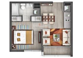 La Cisterna, Región Metropolitana, 1 Dormitorio Habitaciones, ,1 BañoBathrooms,Departamento,En Venta,1212