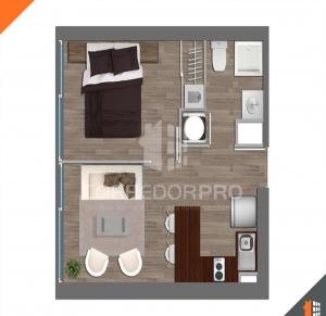 Estación Central, Región Metropolitana, 1 Dormitorio Habitaciones, ,1 BañoBathrooms,Departamento,Vendida,1247