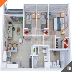 La Granja, Región Metropolitana, 3 Habitaciones Habitaciones, ,2 BathroomsBathrooms,Departamento,Vendida,1271
