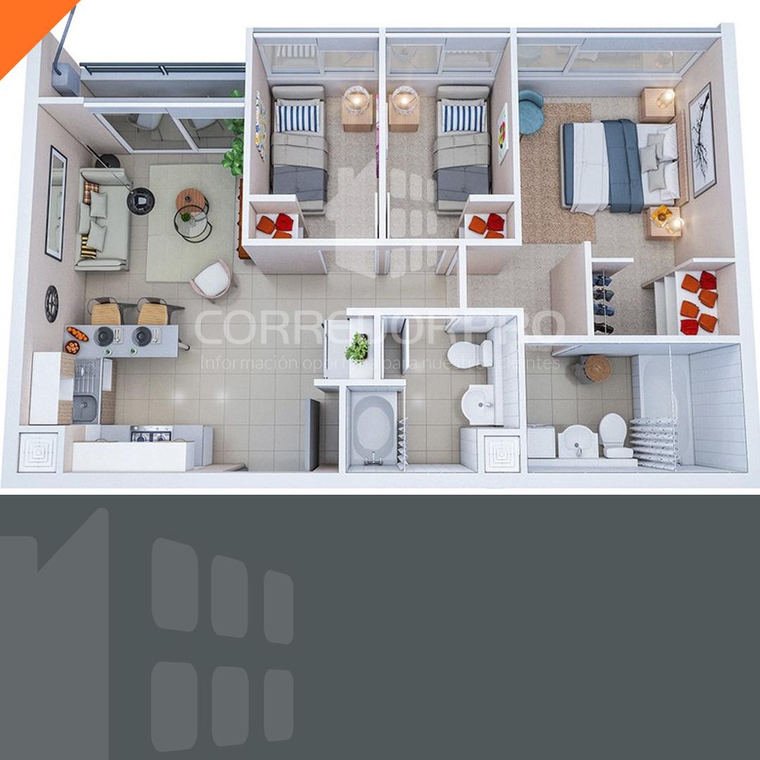 La Cisterna, Región Metropolitana, 3 Habitaciones Habitaciones, ,2 BathroomsBathrooms,Departamento,Vendida,1311