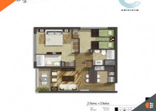 Santiago, Región Metropolitana, 2 Habitaciones Habitaciones, ,2 BathroomsBathrooms,Departamento,En Venta,1593